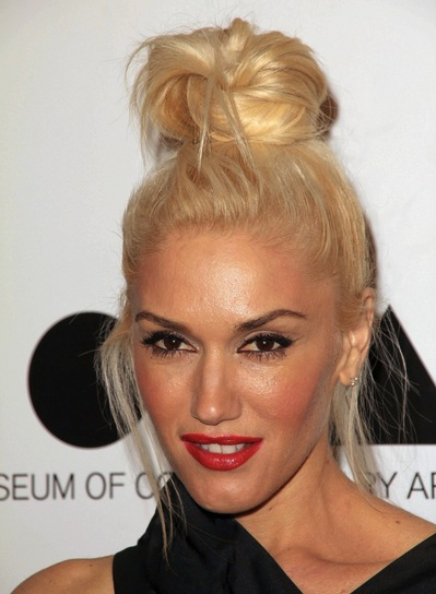 Gwen Stefani Chic, Edgy, Party, Blonde Updo