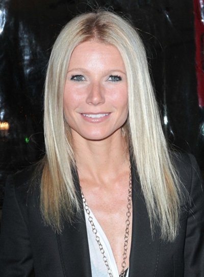 Gwyneth Paltrow's Medium, Straight, Chic, Blonde Hairstyle