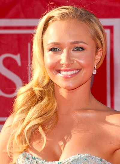 Hayden Panettiere's Chic, Long, Blonde, Romantic Hairstyle