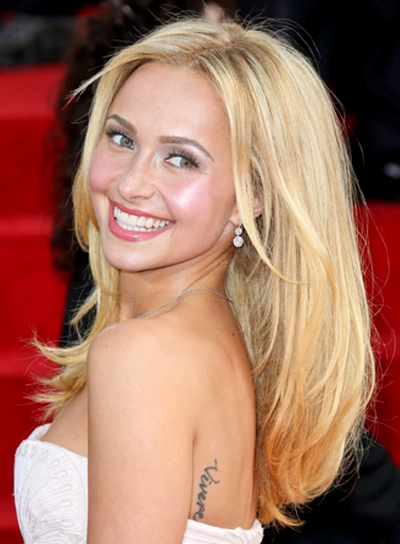 Hayden Panettiere's Long, Blonde, Tousled, Party, Hairstyle