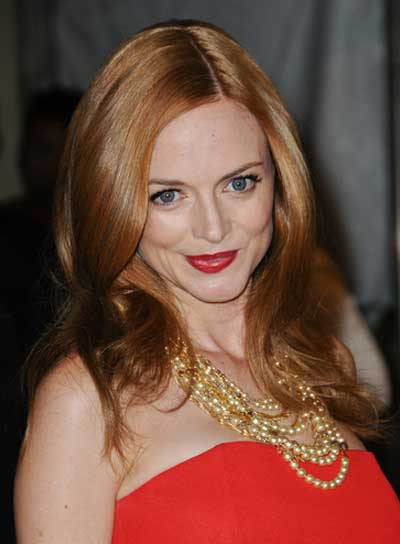 Heather Graham Medium, Sophisticated, Red Hairstyle
