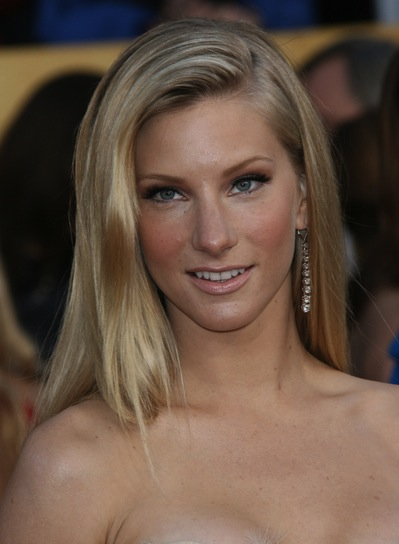 Heather Morris Long, Straight, Sophisticated, Blonde Hairstyle