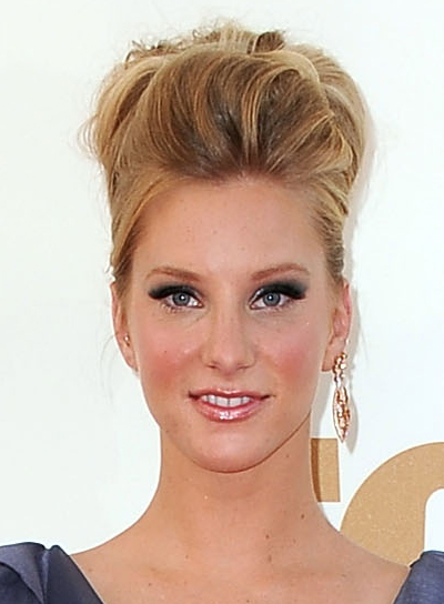 Heather Morris Sophisticated, Edgy, Blonde Updo