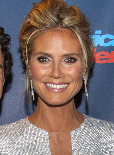 Heidi Klum's Blonde, Tousled, Updo, Party Hairstyle