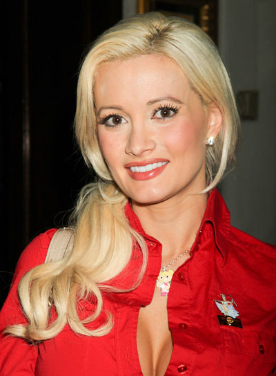 Holly Madison Curly, Blonde Ponytail