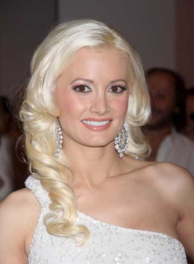 Holly Madison Blonde, Curly, Prom Hairstyle