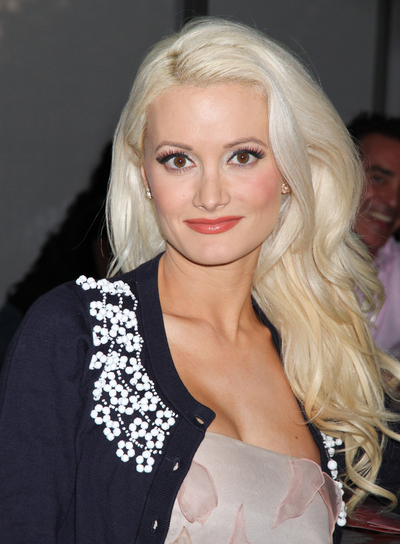 Holly Madison Long, Curly, Thick, Formal, Blonde Hairstyle