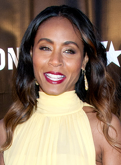 Jada Pinkett Smith's Long, Brunette, Wavy, Romantic Hairstyle