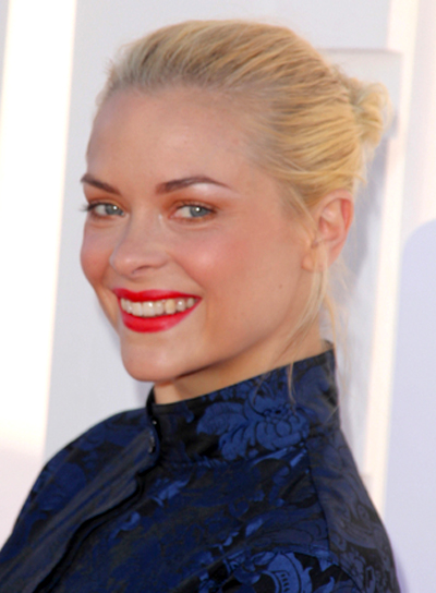Jaime King's Chic, Blonde, Sophisticated, Updo Hairstyle