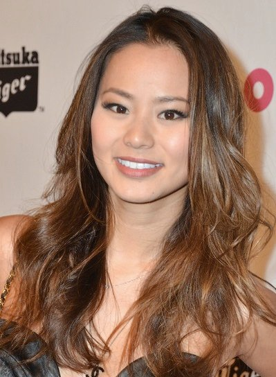 Jamie Chung Long, Wavy, Tousled, Brunette Hairstyle