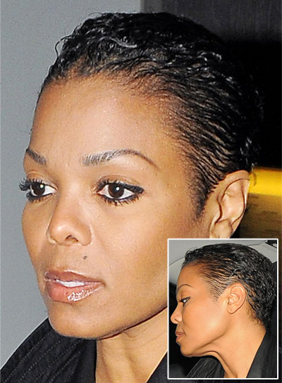Janet Jackson Short, Black, Edgy Hairstyle