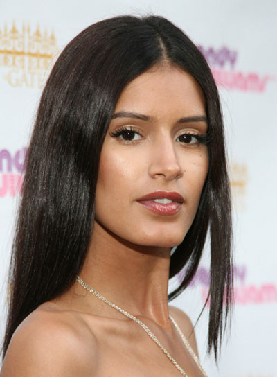 Jaslene Gonzalez Long, Straight, Brunette Hairstyle