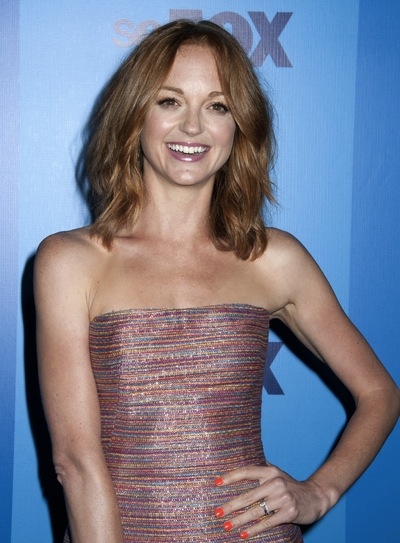 Jayma Mays Medium, Sophisticated, Wavy, Red Hairstyle