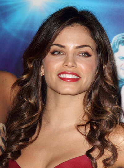 Jenna Dewan's Long, Brunette, Curly, Party Hairstyle
