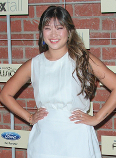 Jenna Ushkowitz's Long, Brunette, Wavy, Romantic Hairstyle