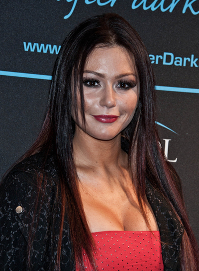 "Jenni ""Jwoww"" Farley Long, Straight, Layered Hairstyle with Highlights"