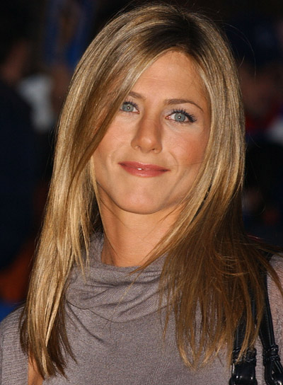 Jennifer Aniston Long, Sedu Hairstyle with Highlights