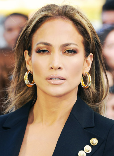 Jennifer Lopez with a Long, Brunette, Romantic, Formal Hairstyle Pictures