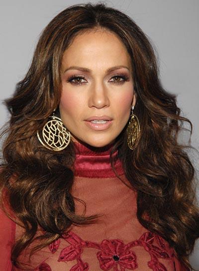Jennifer Lopez Brunette, Wavy Hairstyle