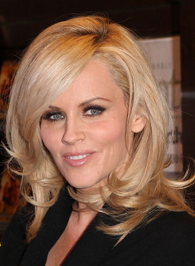 Jenny McCarthy Medium, Sexy, Layered, Blonde Hairstyle
