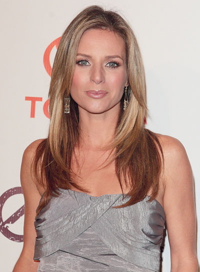 Jessalyn Gilsig Long, Straight, Layered, Chic, Blonde Hairstyle