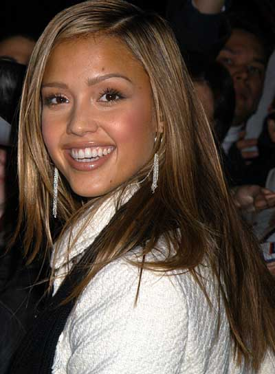 Jessica Alba Long, Straight Hairstyle