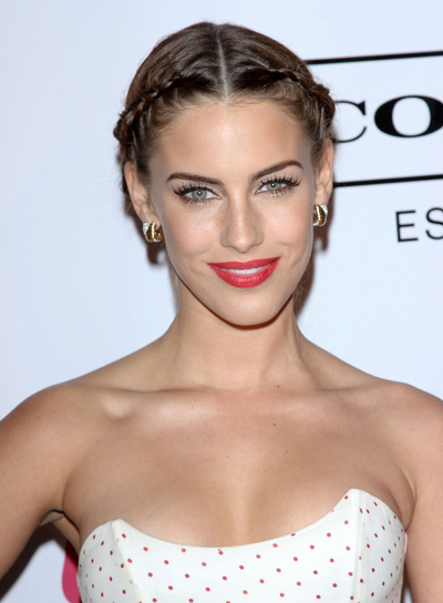 Jessica Lowndes Sophisticated, Romantic, Brunette Updo with Braids and Twists