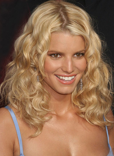 Jessica Simpson Medium, Curly Hairstyle