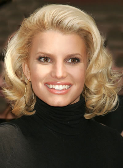Jessica Simpson Blonde, Wavy Hairstyle