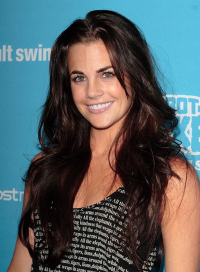 Jillian Murray Long, Tousled, Sexy, Brunette Hairstyle
