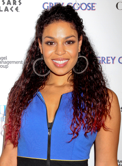 Jordin Sparks' Long, Curly, Half Updo, Brunette Hairstyle