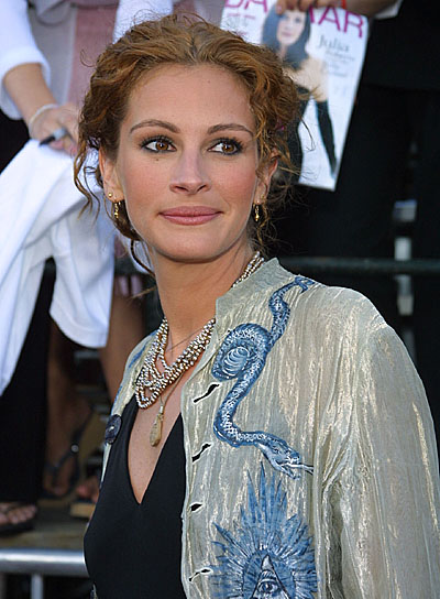 Julia Roberts Curly Updo