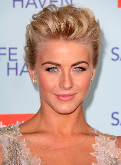 Julianne Hough's Blonde, Tousled, Wavy, Updo Hairstyle