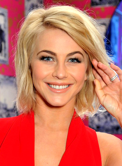 Julianne Hough's Blonde, Wavy, Edgy, Medium Hairstyle