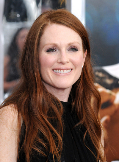 Julianne Moore Long, Red Hairstyle