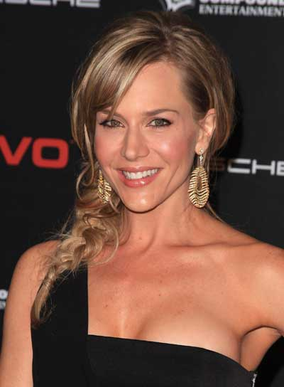 Julie Benz Curly, Romantic, Blonde Hairstyle with Braids and Twists