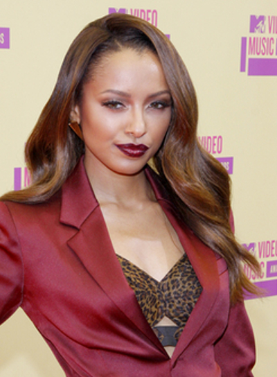 Kat Graham's Long, Wavy, Romantic, Brunette Hairstyle