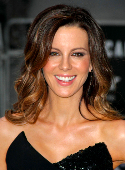 Kate Beckinsale's Long, Wavy, Romantic, Brunette Hairstyle