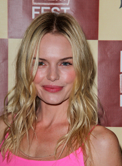 Kate Bosworth Medium, Wavy, Tousled, Chic, Blonde Hairstyle