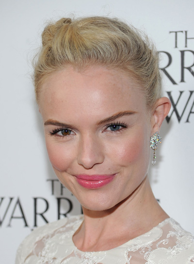 Kate Bosworth Romantic, Blonde Updo with Braids and Twists