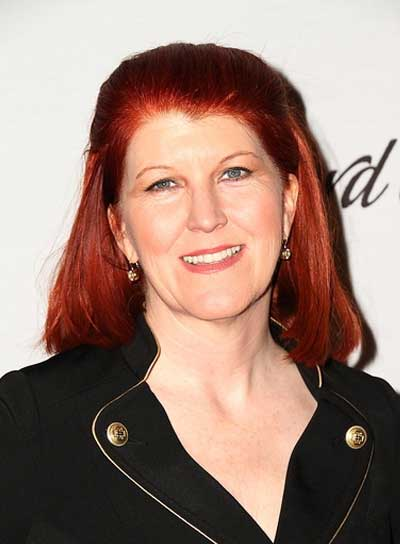 Kate Flannery Medium, Straight, Red Hairstyle