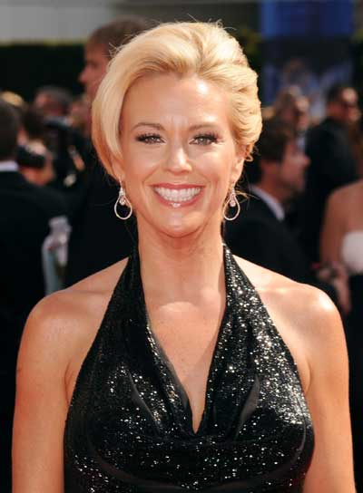 Kate Gosselin Short, Straight, Blonde Hairstyle