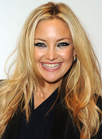 Kate Hudson Straight, Layered, Blonde Hairstyle
