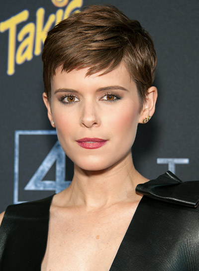Kate Mara's Short, Brunette, Edgy, Straight Hairstyle