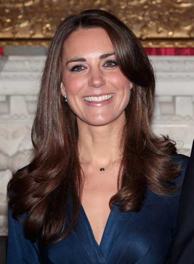 Kate Middleton Long, Romantic, Wavy, Brunette Hairstyle