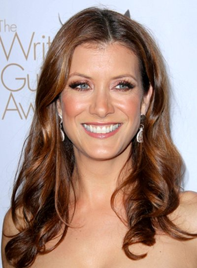 Kate Walsh's Wavy, Brunette, Long, Romantic Hairstyle