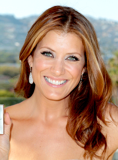 Kate Walsh's Red, Romantic, Wavy Hairstyle with Highlights