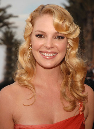 Katherine Heigel Curly, Romantic, Long Hairstyle