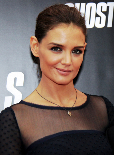 Katie Holmes Sophisticated, Brunette Ponytail