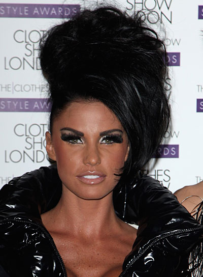Katie Price Funky, Black, Coarse Updo